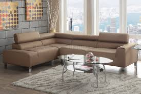 Fabric Sectional Sofa F7288 Sectional Sofa By Poundex In Tan Fabric