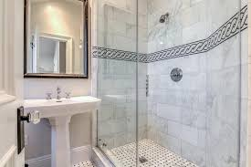 bathroom border tiles ideas for bathrooms black and white chain accent border shower tiles transitional