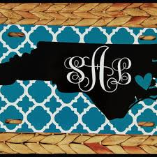 monogrammed plate license plate car tag carolina from chic monogram bmw