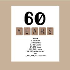 60 years birthday 60th birthday card milestone birthday card the big 60 1958