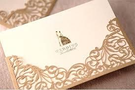 wedding invitations dubai cdwish floral laser cut wedding invitations gold paper cards kit