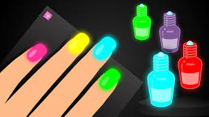 learn colors with surprise nail arts colours to kids children