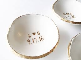 wedding gift jewelry wedding ring holder wedding gift date and initials
