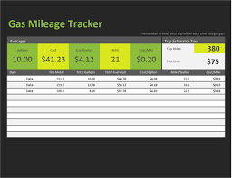 fuel report template gas mileage tracker office templates
