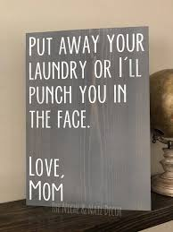 put away your laundry sign laundry decor mom laundry sign