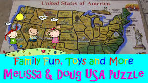 Usa Puzzle Map by Melissa U0026 Doug Deluxe Wooden Usa Map Puzzle Youtube