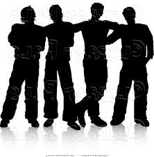 free silhouette images best of four men standing free silhouette clipart group image