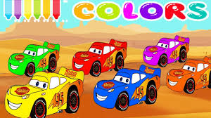 cartoon race car liked on youtube learn colors and numbers with mcqueen cars for