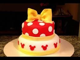 how to make a minnie mouse cake youtube