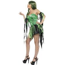ladies green naughty fairy witch halloween costume 32903