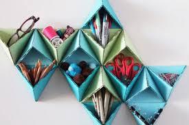 Origami Desk Organizer Cool Diy Desk Organizers For More Productive Work