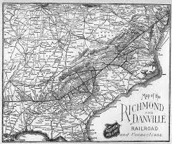 Map Of North Carolina And Virginia by North Carolina Railroads Richmond U0026 Danville Railroad