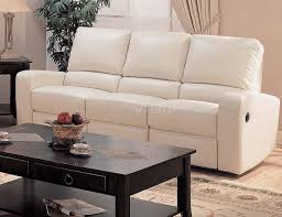 bonded leather modern reclining living room sofa w options