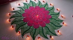 45 kolam designs for festivals beautiful red flower rangoli designs colourful designs for