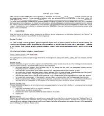 Interior Design Services Contract by Template For Service Agreement 50 Professional Service Agreement