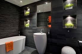 black bathroom basic decor