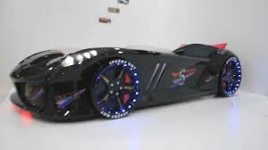 black jaguar race car bed with led lights usa youtube