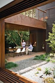 Outdoor Kitchen Against House Best 25 Modern Courtyard Ideas On Pinterest Atrium Garden