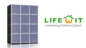 Cabinet Clothes How To Set Up The Lifewit Interlocking Clothes Cabinet Youtube
