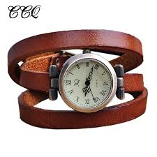 leather wrap bracelet watches images Punk roma header womens genuine leather watch ladies wristwatch jpg