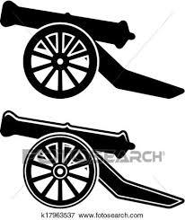 clipart of retro cannon sketch k10374052 search clip art