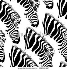 zebra seamless pattern animal ornament stock vector