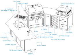 Designing An Outdoor Kitchen Kitchen Design Blueprints Zamp Co