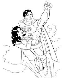 superman colouring pages 26 print color free