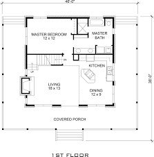1 Floor Home Plans Cabin Style House Plan 3 Beds 2 Baths 1479 Sq Ft Plan 140 121