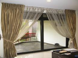 sliding door curtains decorating ideas tips for window covering