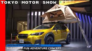 subaru concept 2017 subaru xv fun adventure concept at tokyo motor show 2017 youtube