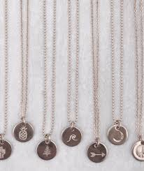 Hand Stamped Necklace Mini Disc Necklace James Michelle Jewelry Handstamped Necklaces