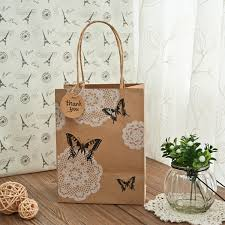 thank you favors rustic butterfly wedding favors kraft paper bags with thank you