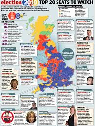 Uk Election Map by General Election 2010 The Top 20 Seats To Watch Daily Mail Online