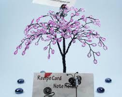 beaded palm tree wire sculpture desktop business cards