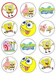 spongebob cake toppers spongebob squarepants edible cake cupcake toppers
