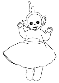 laa laa wear skirt teletubbies coloring laa laa wear