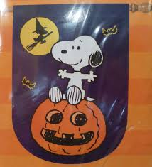 halloween garden flag peanuts snoopy on pumpkin woodstock 28 by 40