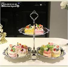 european silver plated wedding cake stand cake decoration tools