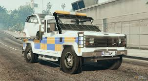 land rover 110 truck rover defender recovery truck with car for gta 5