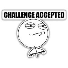 Challenge Accepted Memes - challenge accepted meme sticker 115x65mm vw euro jdm ebay