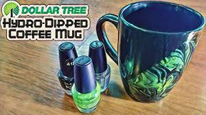 dollar tree hydro dipped coffee mug diy with cly ep 6 youtube
