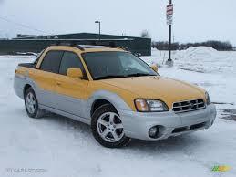 subaru baja baja yellow 2003 subaru baja standard baja model exterior photo