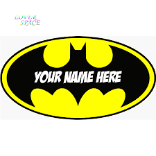 aliexpress com buy personalised batman logo decal removable wall