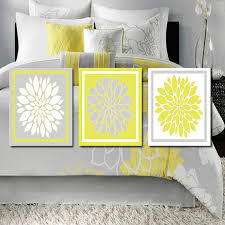 Linen Covers Gray Print Pillows White Walls Grey Modern Abstract Floral Flower Flourish Artwork Set Of 3 Trio
