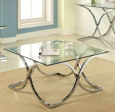 Mirrored Top Coffee Table Furniture Of America Cm4233c Pk Luxa Contemporary Chrome Mirror
