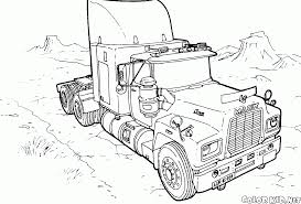 coloring page tractor mask