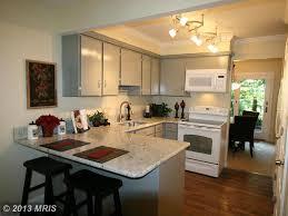 traditional kitchen with breakfast bar u0026 u shaped in burke va