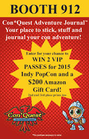 how to win gift cards enter to win a 200 gift card 2 vip passes for indy popcon