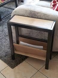 meuble bout de canapé bout de canapé porte revue pratique mobilier acier sur